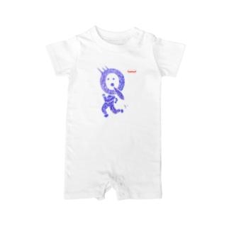 QfaceTシャツ ベイビーロンパース