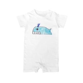 シロナガスクジラ ベイビーロンパース
