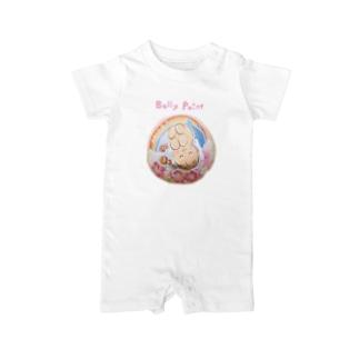 赤ちゃんとイルカと虹 ベイビーロンパース