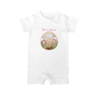 虹と赤ちゃんのベリーペイント ベイビーロンパース