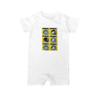 コインランドリー Coin laundry【2×3】 Baby rompers