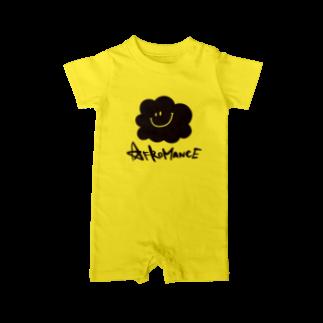 AFROMANCEのアフロマンス・ロゴ ベイビーロンパース