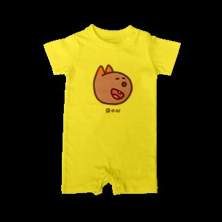 BAMI SHOPのにっこりボンくん(カラー) Baby rompers