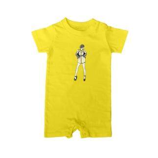 """""""Yellow"""" いけじょファッショニスタ ベイビーロンパース"""
