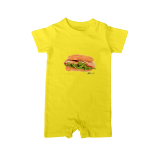 3pondSのベーコンサンド! Baby rompers