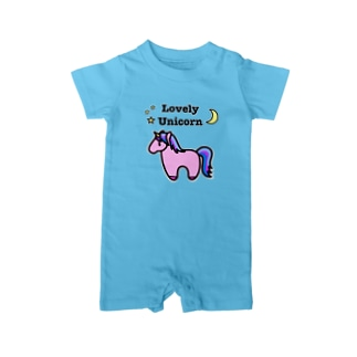 Lovely Unicorn ピンク Baby rompers