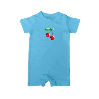 THE SHOPのキラキラチェリー Baby rompers