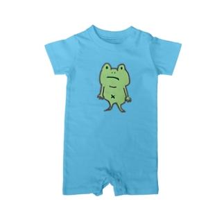 ZENZERON064(カエル) Baby Rompers