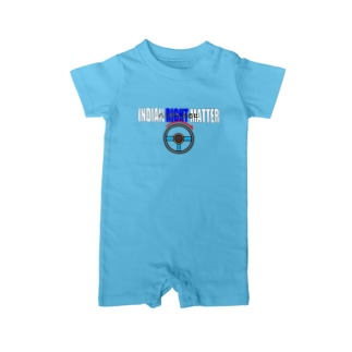 INDIAN RIGHT MATTER インド人を右に Baby rompers