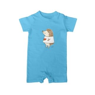 スイカTシャツはりねずみ Baby rompers