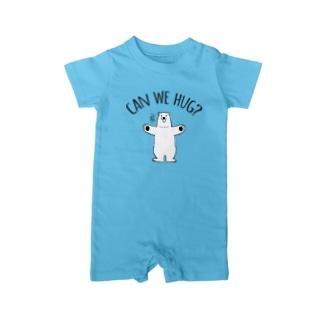 シロクマさんのハグアピール Baby rompers