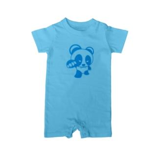 BASEfor PANDA Blue Baby rompers