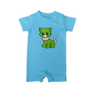 グリーンキャット Baby Rompers