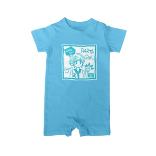 SWEET&SPICY 【すいすぱ】のGAME ON! 【SWEET LIGHTBLUE】 Baby rompers