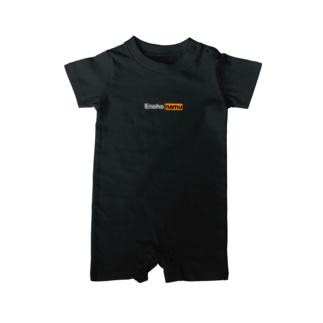 ロゴのみ(黒) Baby rompers