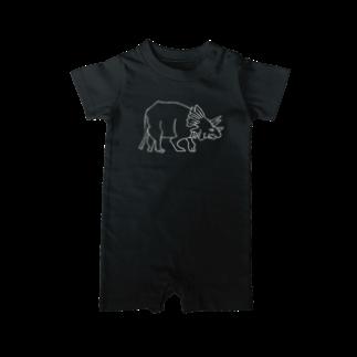 みさきのーとの恐竜トリケラトプス Baby rompers