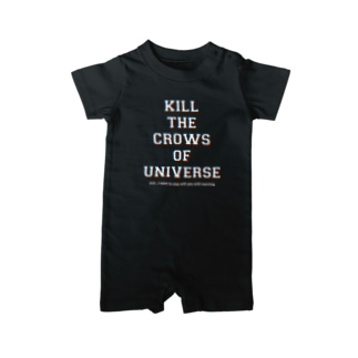 KILL the CROWS of UNIVERSE Baby rompers