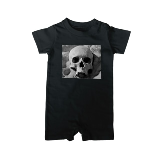 the  skull Baby rompers
