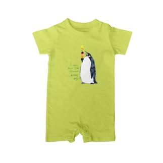 ペンギンとアイス Baby rompers