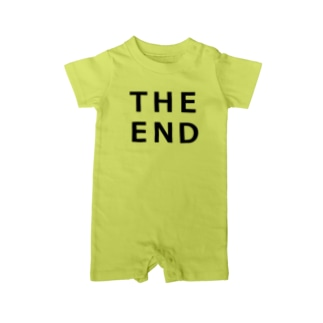 THE END (黒) Baby rompers