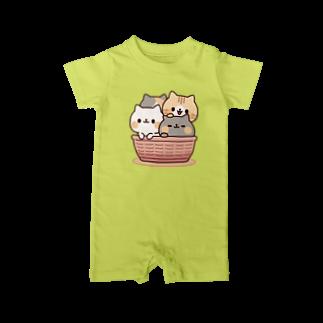 DECORのネコがいっぱい/カゴver. Baby rompers