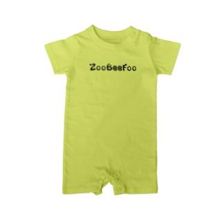 ZooBeeFoo黒ロゴ Baby rompers