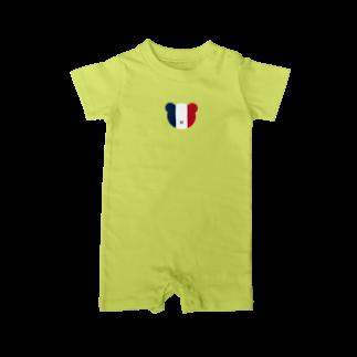 haruiroのフランスフラッグカラー ベア Baby rompers