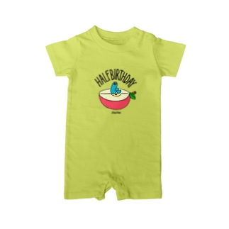 Half Birthday apple Baby rompers