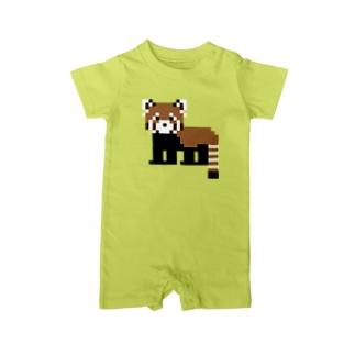 ドットレッサーパンダ Baby rompers