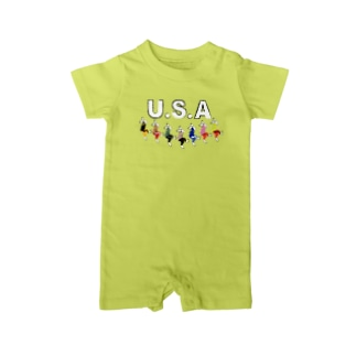 USA(うさ)ダンス Baby rompers