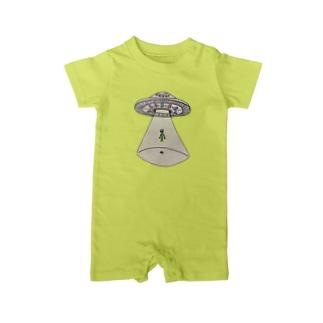 UFOから宇宙人 Baby rompers