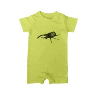 カブトムシくん Baby Rompers