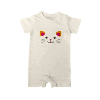 H2Styleのねこフェイス Baby rompers