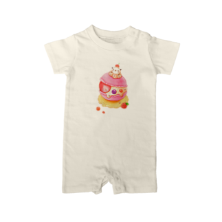 pocoehonのポコポコマカロン Baby rompers
