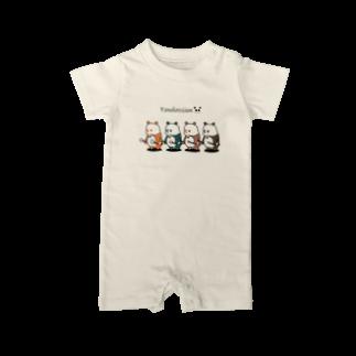 NAN&COOのパンダッションズ Baby rompers