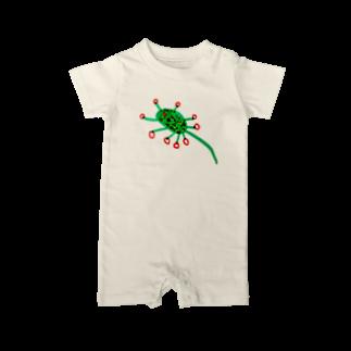 さとやま図案のモウセンゴケ Baby rompers