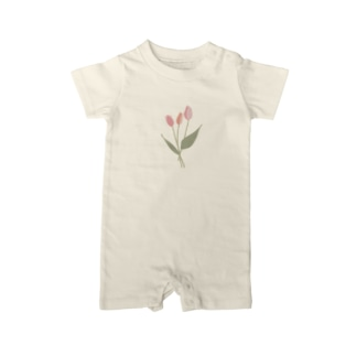 pink tulip Baby rompers