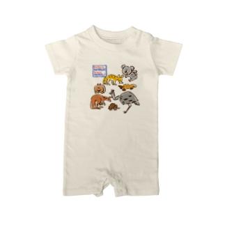 オーストラリアアニマル(500円募金) Baby rompers