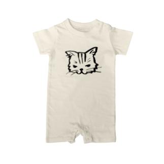 ネコ科… Baby rompers