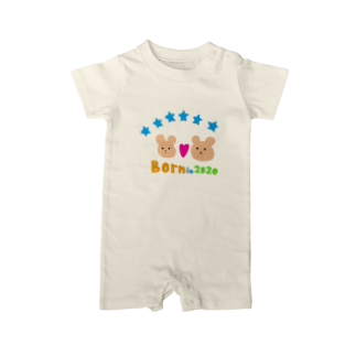 gorin-gorinのwelcome baby  Baby rompers