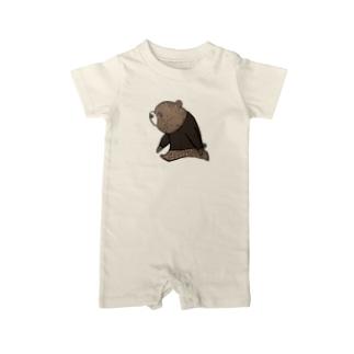 子熊のトリオ 長男 Baby Rompers