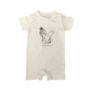 ARATA HOUSE GOODSのI'm happy to see you. Baby rompers