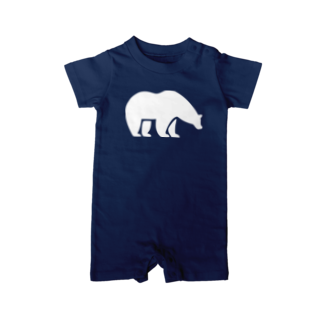 BASE-CAMPのBASE BEAR 01 WHITE Baby rompers