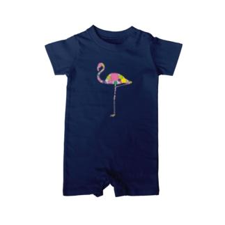 flamingo. Baby Rompers