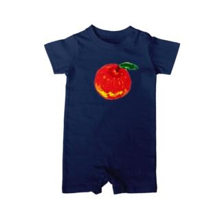 くれよん りんご Baby rompers
