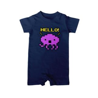 HELLO!エイリアン Baby rompers