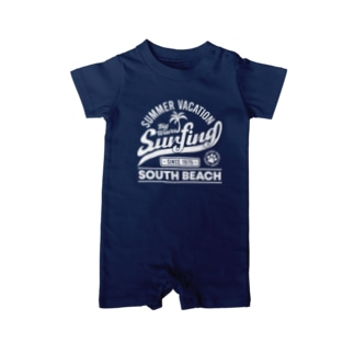 Surfing ~ Vintage style ~ Baby rompers