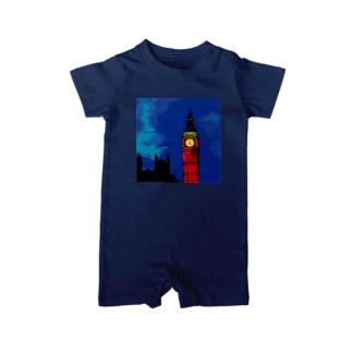 ロンドン ビッグベン エリザベスタワー Baby rompers