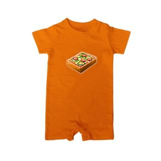 ピザトースト! Baby rompers