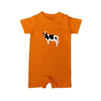 乳牛さま Baby rompers